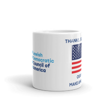 "Load image into Gallery viewer, Fourth of July Coffee Mug - ""Thanks, But No Tanks!"""