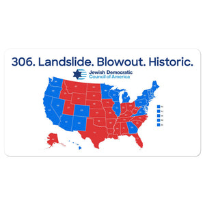 306. Landslide. Blowout. Historic sticker