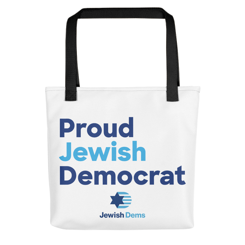Proud Jewish Democrat Tote Bag