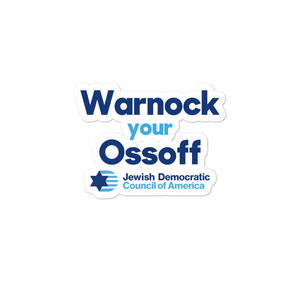 Warnock your Ossoff Sticker