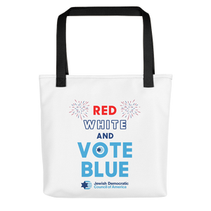 Red White and Vote Blue Tote Bag