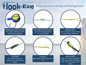 HOOK-EZE Fishing Knot Tying Tool for Fishing Hooks All in One