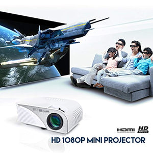 Mini HD LED Video Projector Office Home Theater