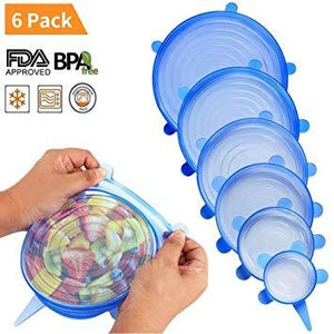 🎉6PCS stretchable silicone box! ✅100% without BPA and FDA approval👌