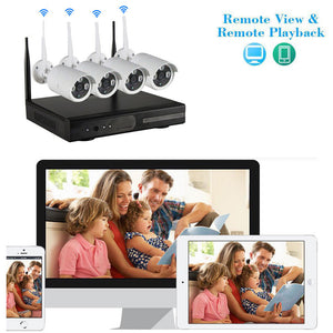 8CH HDMI NVR Wireless Outdoor IR Day Night Wifi 1MP Camera Home Security System