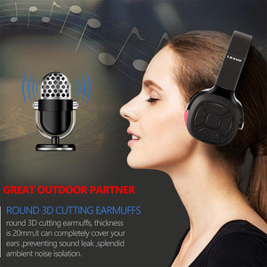 NB6 Folding Bluetooth Hi-Fi Sound Wireless Stereo Headset for Smartphone red