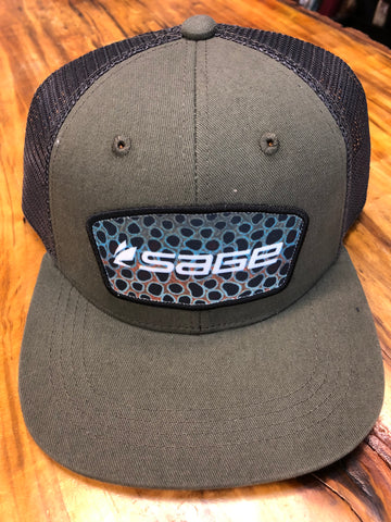 Sage Patch Trucker Brown Trout