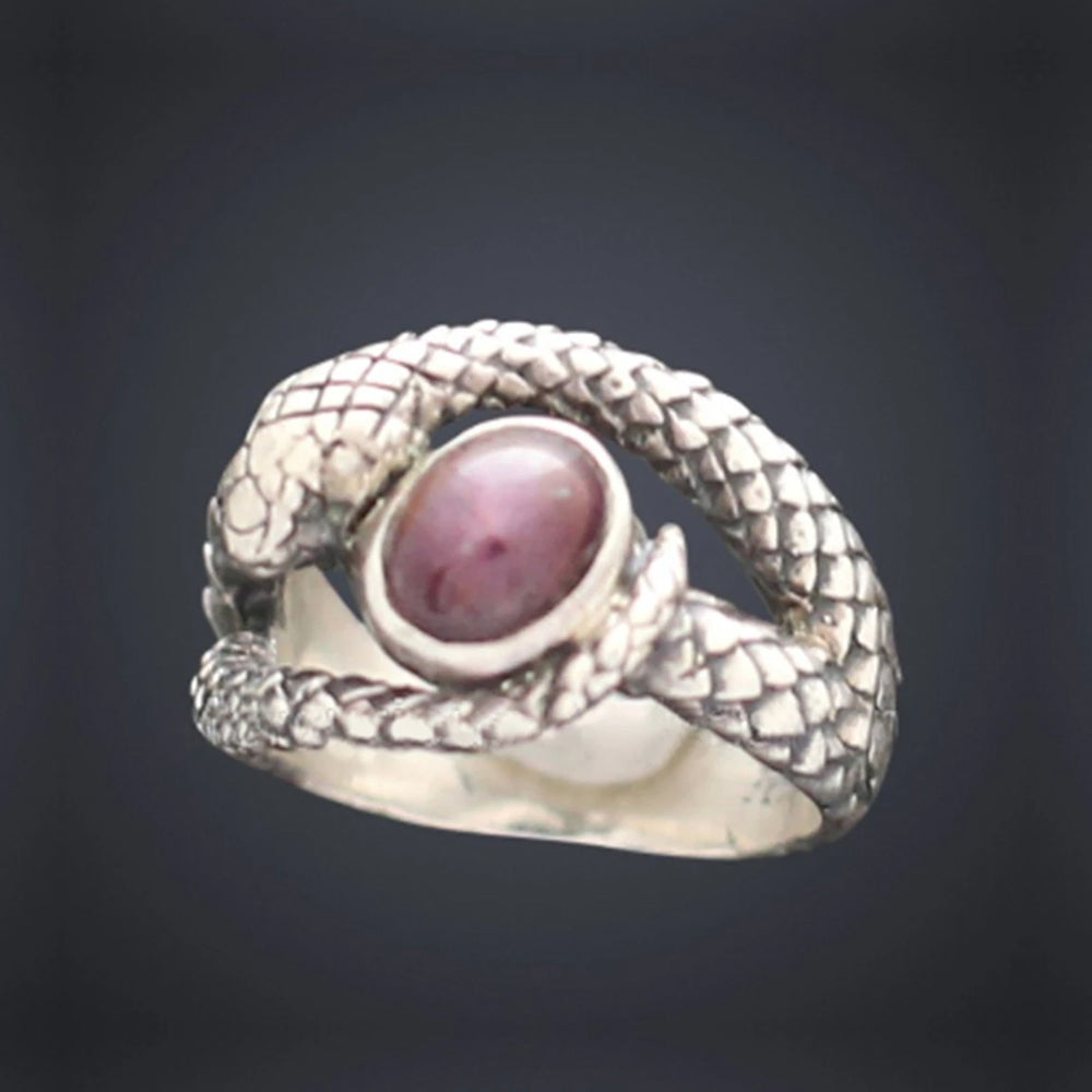 Small Snake Stoned Ring