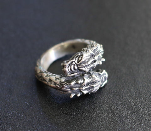 2 Headed Dragon Ring