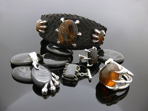 Claw Leather Bracelet