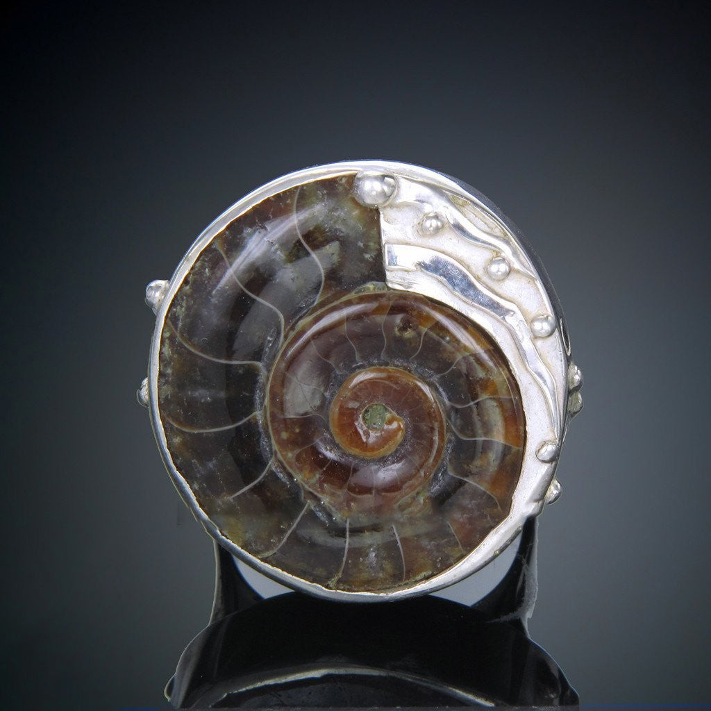 Ammonite Swirl Ring