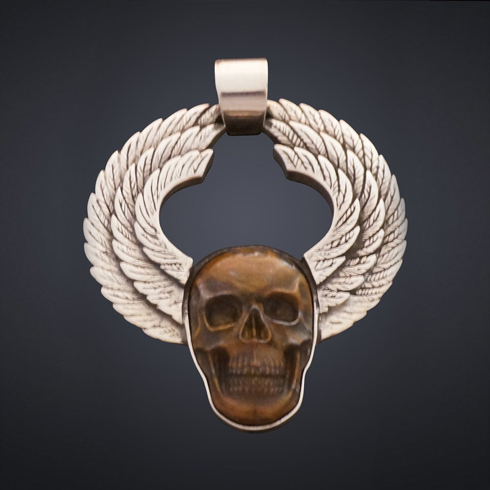 Winged Skull Pendant