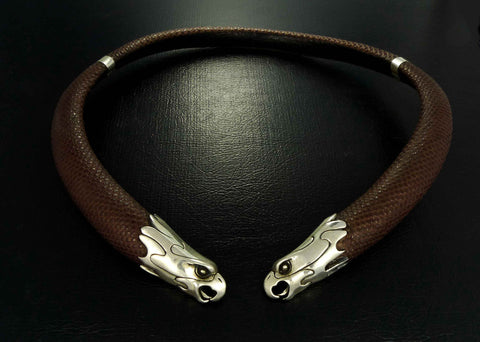 Eagle Necklace - Leather Eagle Torque