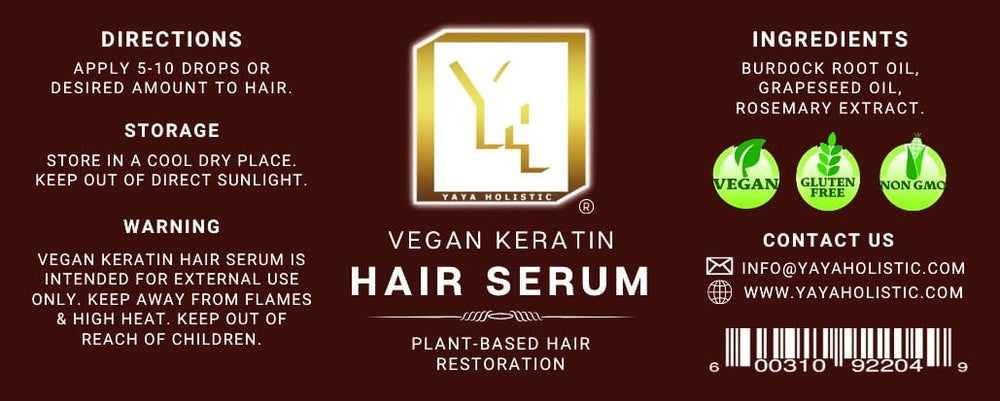 Vegan Keratin Hair Serum