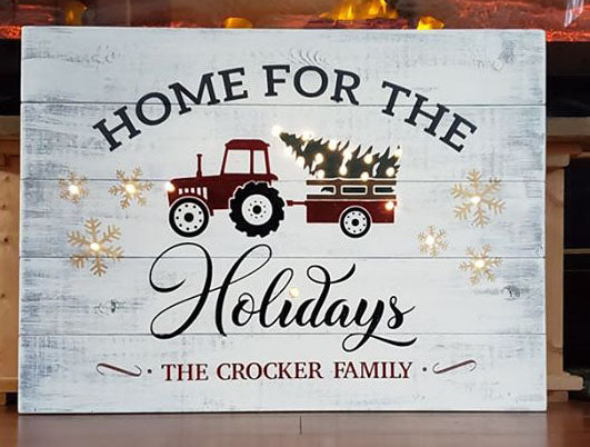 Vintage Holiday Truck Sign ••WITH LIGHTS•• Thurs. OCT. 9, 6PM