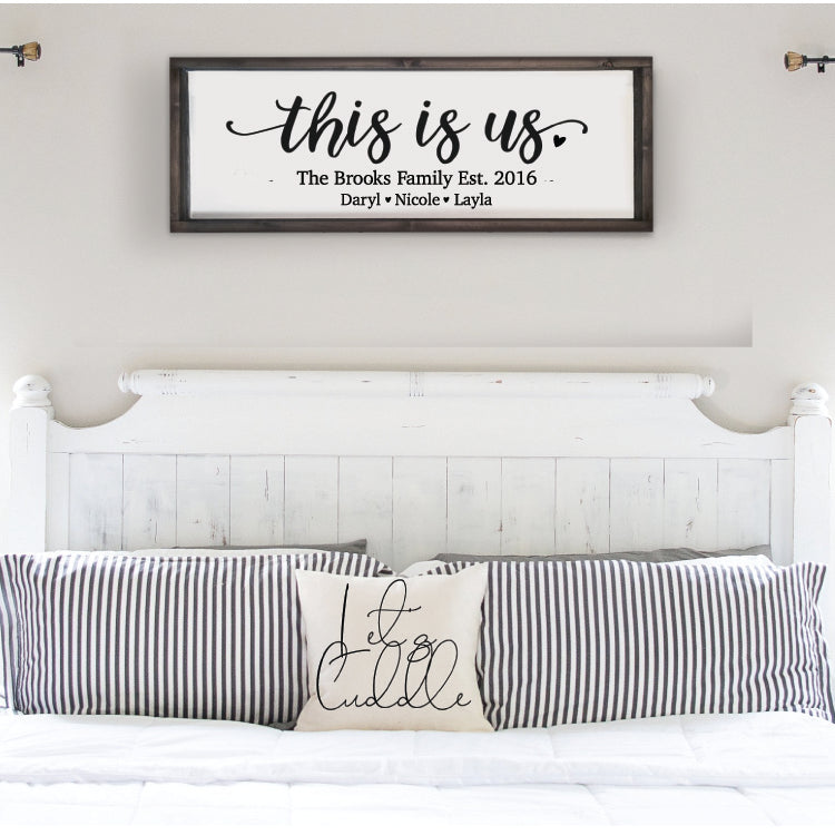 This is Us Personalized Family Sign