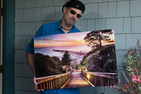 Greg Milligan Photographer hold print of Stairway to the Sunset