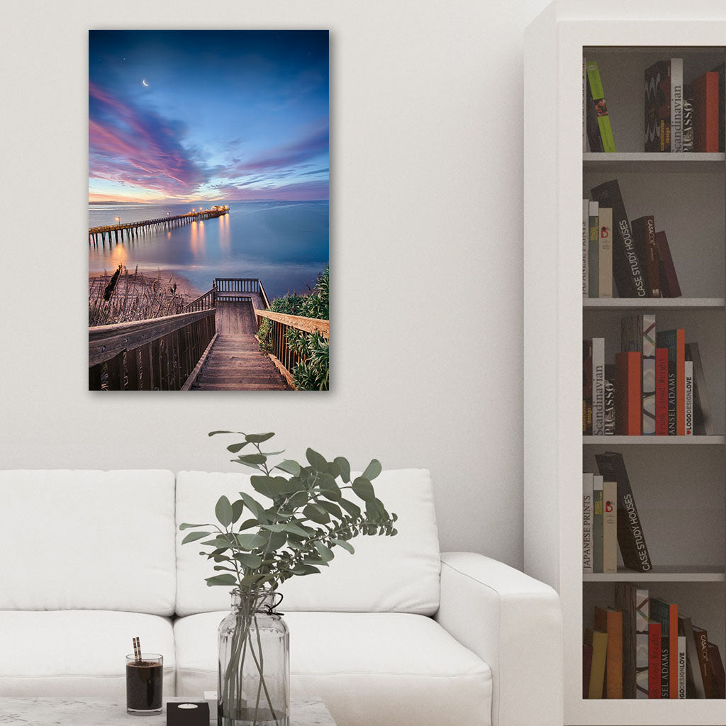 Magical Morning in Capitola - Metal Print in Studio Living Room