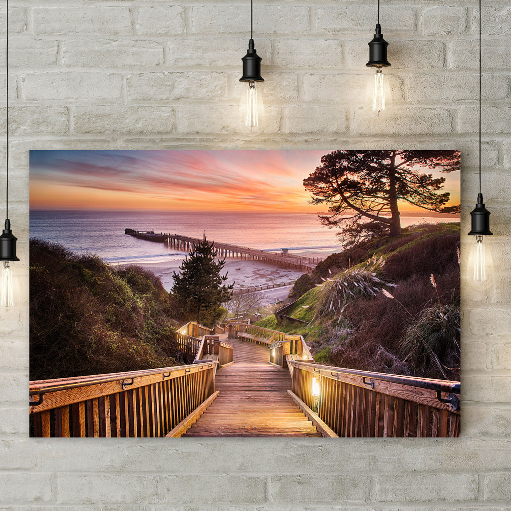 Stairway to the Sunset - Metal Print - Living Room