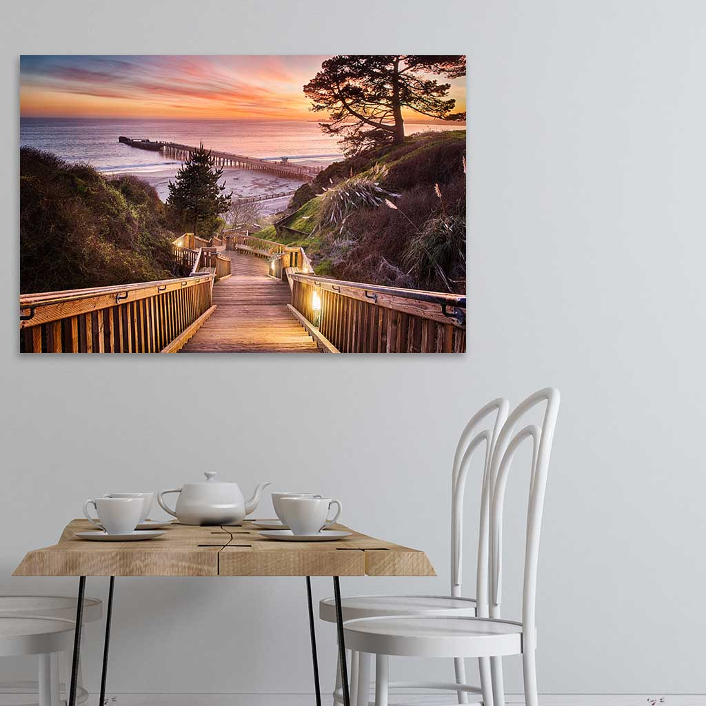 Dining room - Stairway to the Sunset - Metal Print