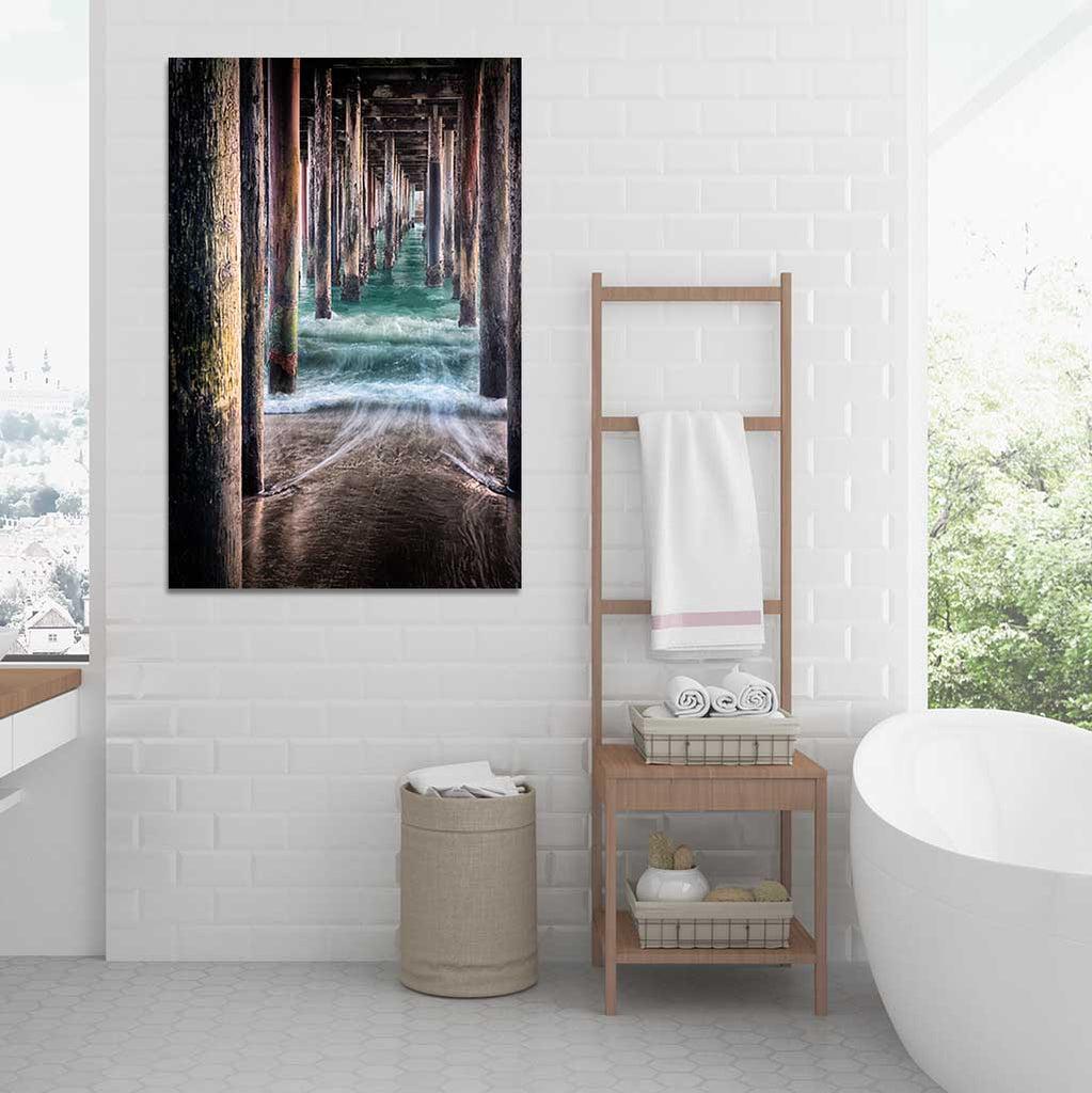 Metal Print - Under the Pier - Bathroom Wall Art