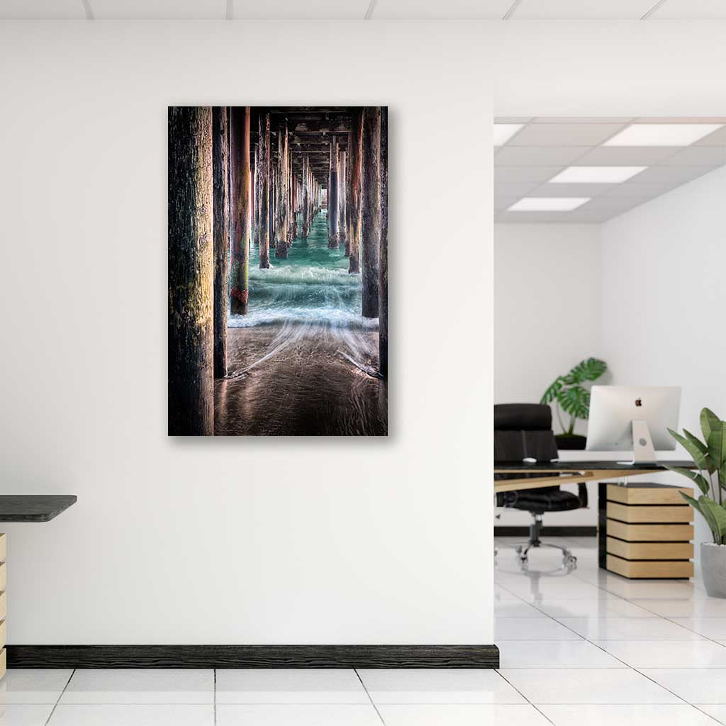 Metal Print on Office Interior - Under the Pier