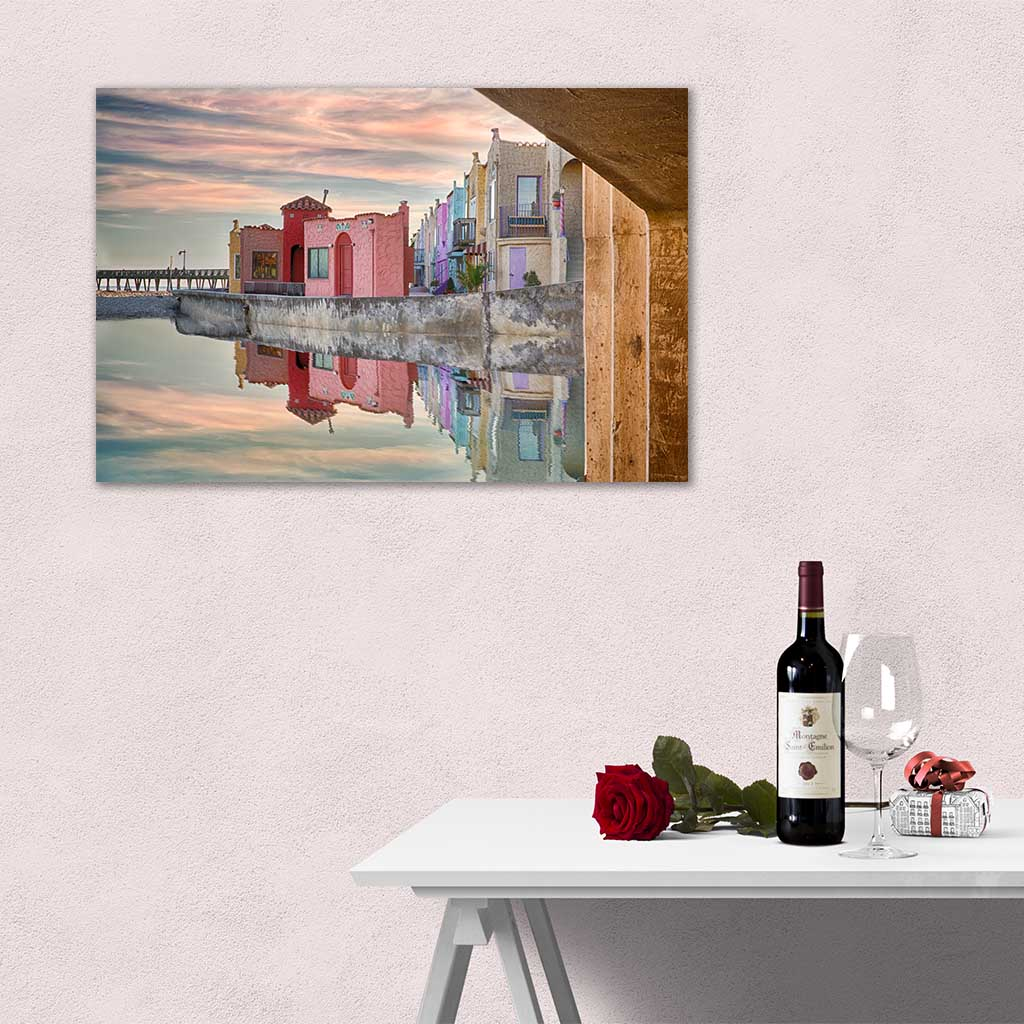Dining room wall art - Venetian Reflections as metal print