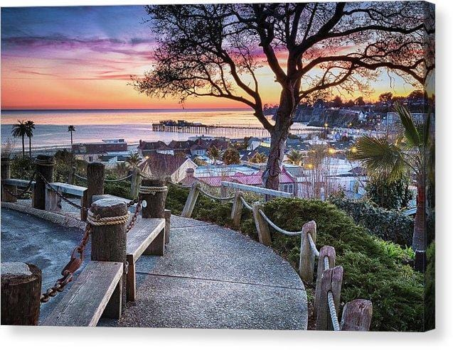 Depot Hill Sunset - Canvas Print - Santa Cruz Art Prints