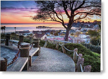 Load image into Gallery viewer, Depot Hill Sunset - Greeting Card - Santa Cruz Art Prints