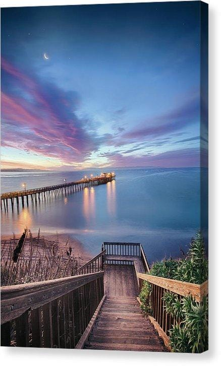 Magical Morning In Capitola - Canvas Print - Santa Cruz Art Prints
