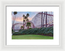 Load image into Gallery viewer, Santa Cruz Roller Coaster At Sunrise - Framed Print - Santa Cruz Art Prints