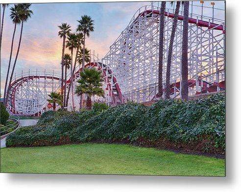Santa Cruz Roller Coaster - Metal Art Print