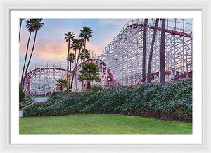 Santa Cruz Roller Coaster At Sunrise - Framed Print - Santa Cruz Art Prints