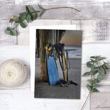 Load image into Gallery viewer, Freediving At The Pier - Greeting Card - Santa Cruz Art Prints
