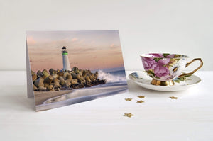 The Harbor Lighthouse - Greeting Card - Santa Cruz Art Prints