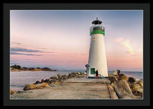 Load image into Gallery viewer, A Bicyclist At Lighthouse - Framed Print - Santa Cruz Art Prints