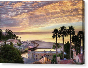 Capitola Village At Sunrise - Canvas Print - Santa Cruz Art Prints