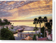 Load image into Gallery viewer, Capitola Village At Sunrise - Canvas Print - Santa Cruz Art Prints