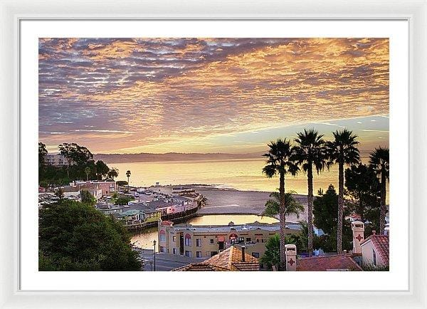 Capitola Village At Sunrise - Framed Print - Santa Cruz Art Prints