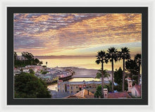 Load image into Gallery viewer, Capitola Village At Sunrise - Framed Print - Santa Cruz Art Prints