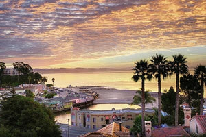 Capitola Village At Sunrise - Art Print - Santa Cruz Art Prints