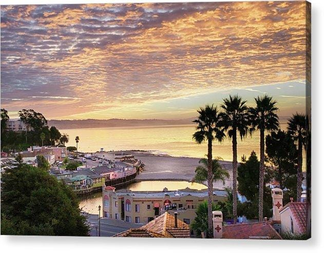 Capitola Village At Sunrise - Acrylic Print - Santa Cruz Art Prints