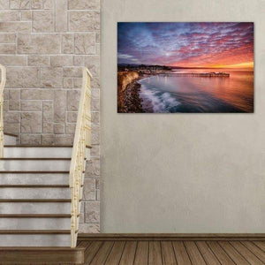 Capitola Wharf at Sunrise - Great Room Wall Art Print