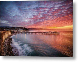 Capitola Wharf at Sunrise - Metal Wall Art Print