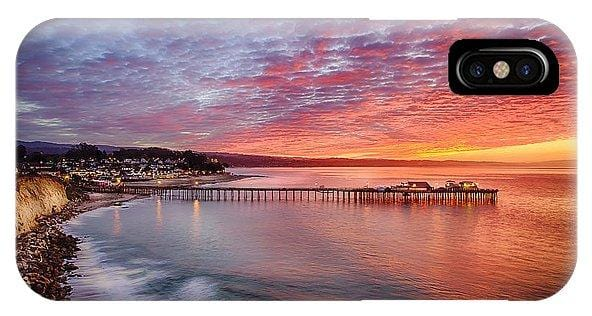 Capitola Wharf At Sunrise - Phone Case - Santa Cruz Art Prints