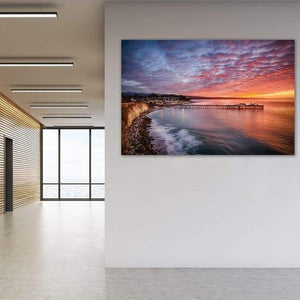 Capitola Wharf at Sunrise - Office Wall Art Print
