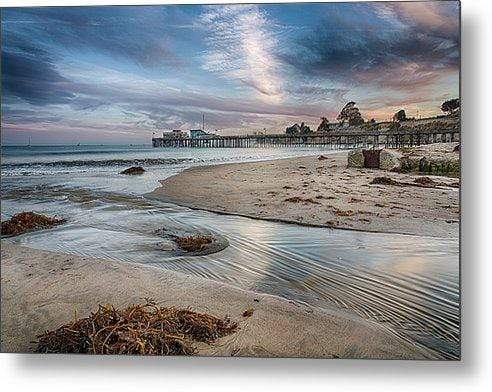 Capitola Wharf at Sunset - Metal Wall Art Print