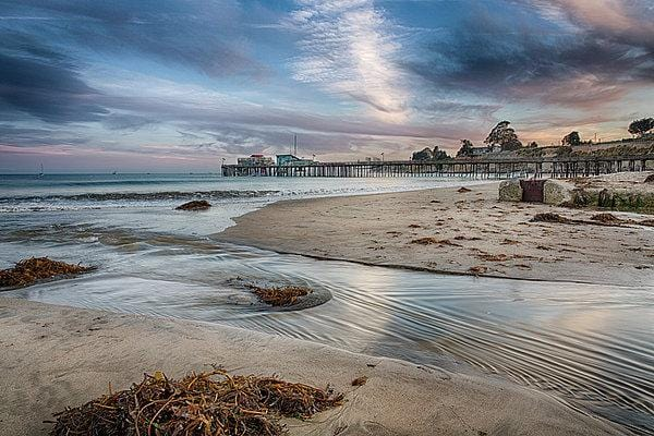 Capitola Wharf At Sunset - Art Print - Santa Cruz Art Prints