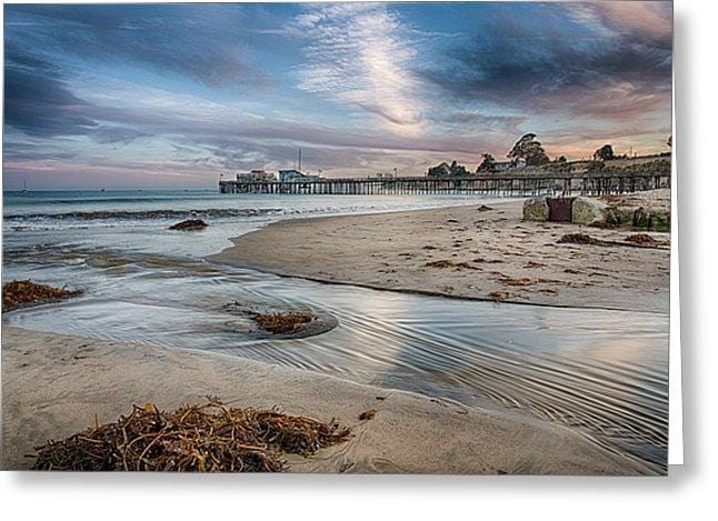 Capitola Wharf At Sunset - Greeting Card - Santa Cruz Art Prints