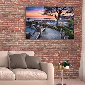 Depot Hill Sunset - Acrylic Print - Santa Cruz Art Prints